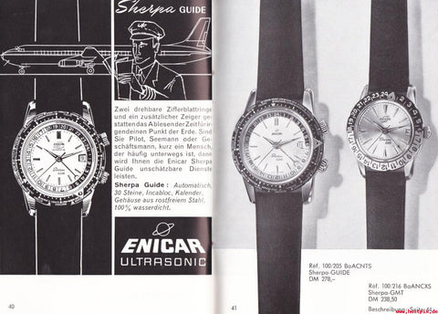 Enicar Sherpa guide ad