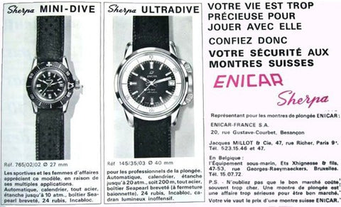 French ad for the Sherpa Mini-Dive and Sherpa Ultradive