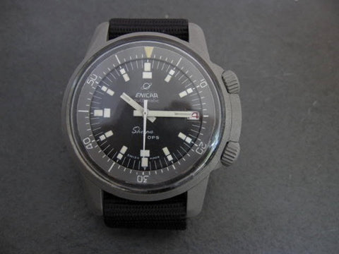 Enicar Sherpa Diver: OPS on black strap