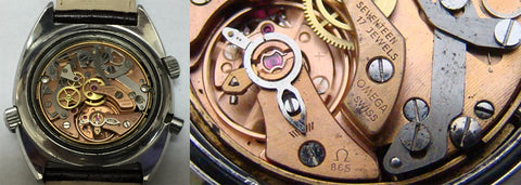 Omega Chronostop Lemania Caliber 865 movement