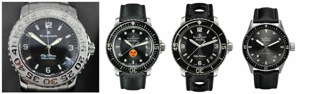 New Generation Blancpain Fifty Fathoms Trilogy