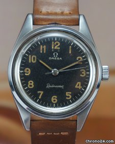 Omega Railmaster dial with numerical markers