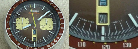 Seiko Bullhead Speed-Timer dial reference: 6138-0071T