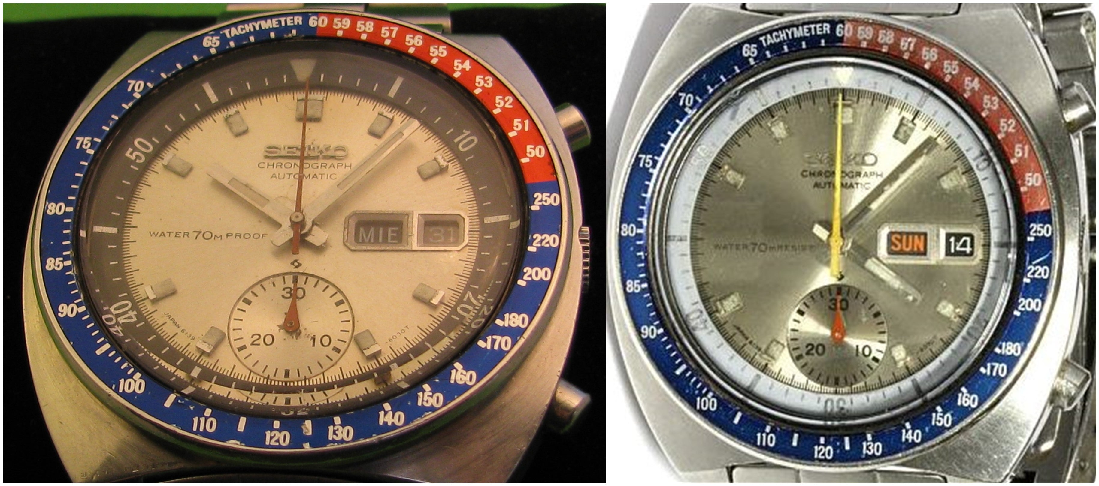 Seiko Pogue dial variations: Proof and Resist dials