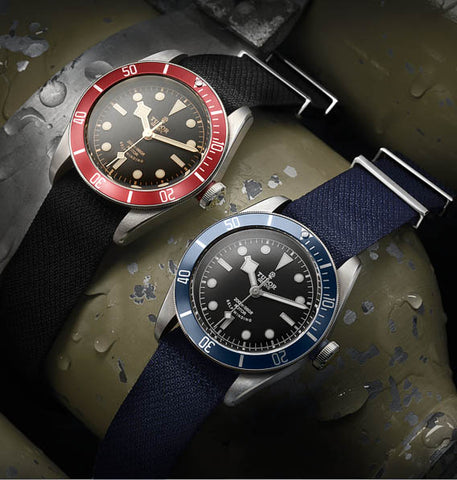 Tudor Heritage Black Bay Red and Blue