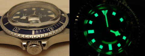 Tudor Snowflake crystal and lume
