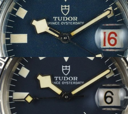 "Tudor Submariner ""Snowflake"" date placement"