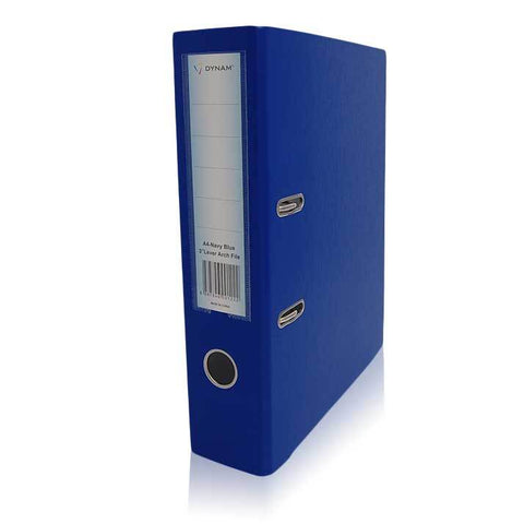 "Dynam Lever Arch Files A4 70mm 3"" PP Cover Black/Blue"