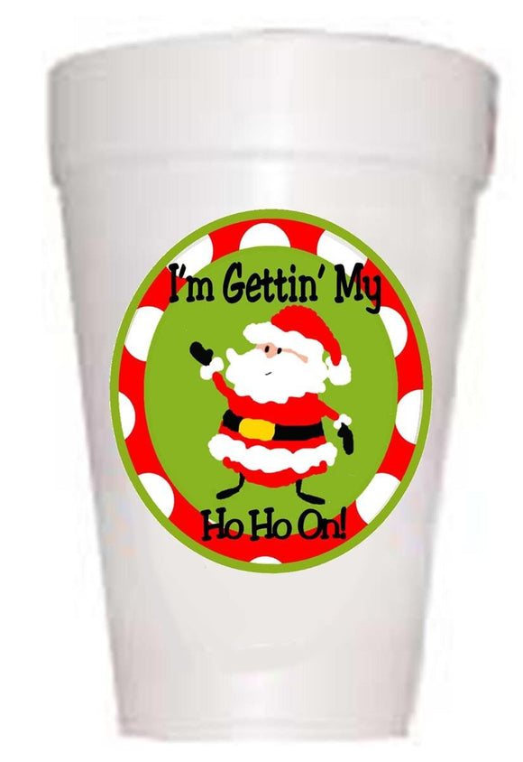 Getting My HoHo Christmas Styrofoam Cups
