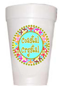 Coastal Crystal Cups - Preppy Mama