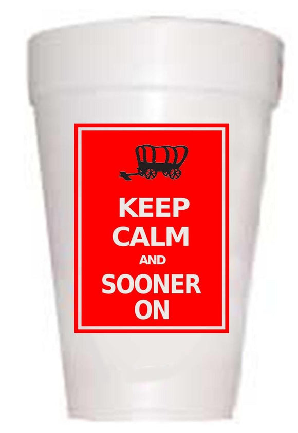 Oklahoma Keep Calm Styrofoam Cups
