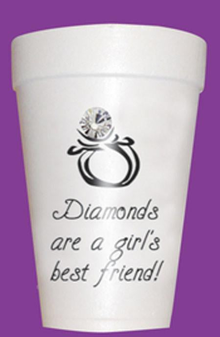 Diamonds Are a Girl's Best Friend Styrofoam Cups - Preppy Mama