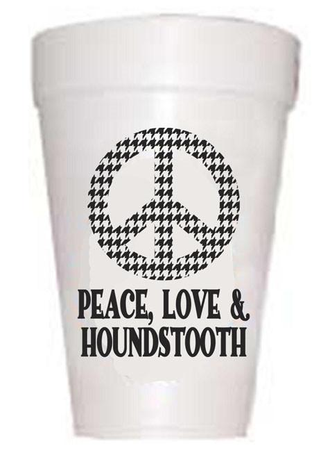 AL Peace Houndstooth Cups - Preppy Mama