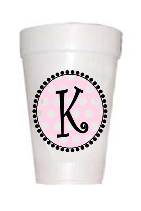 Pink Dot Initial Cups
