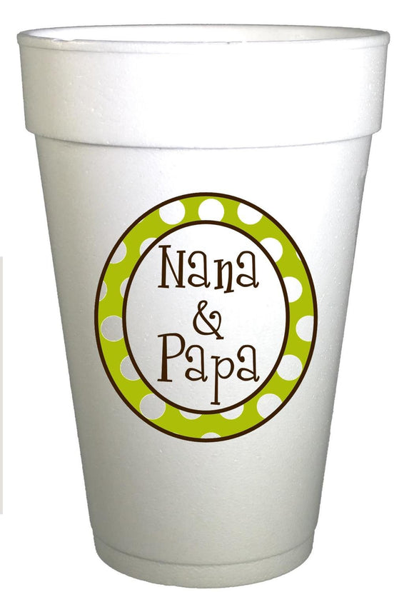 Personalized Birthday Cups-Custom Polka Dot Cups-Logo Cups-Preppy Mama
