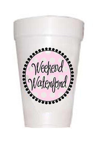 Weekend Waterford- Pink Polka Dot Styrofoam Cups