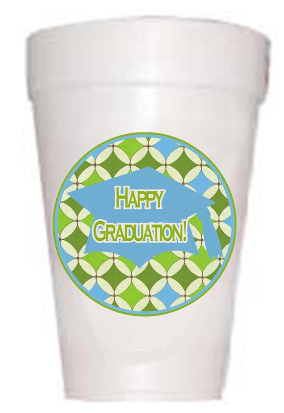 Happy Graduation Styrofoam Cups