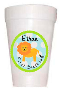 Personalized Children's Birthday Party Cups-Custom Animal Themed Cups_Preppy Mama