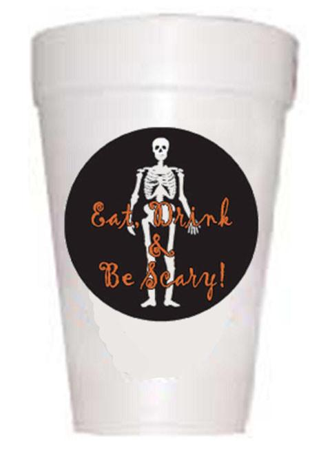 Eat Drink Scary Halloween Styrofoam Cups