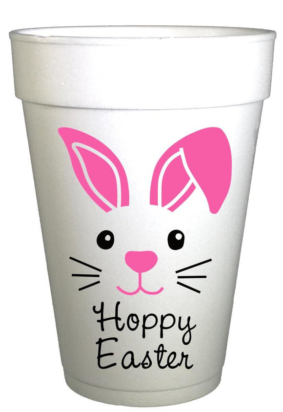 Hoppy Easter Bunny Face Styrofoam Cups