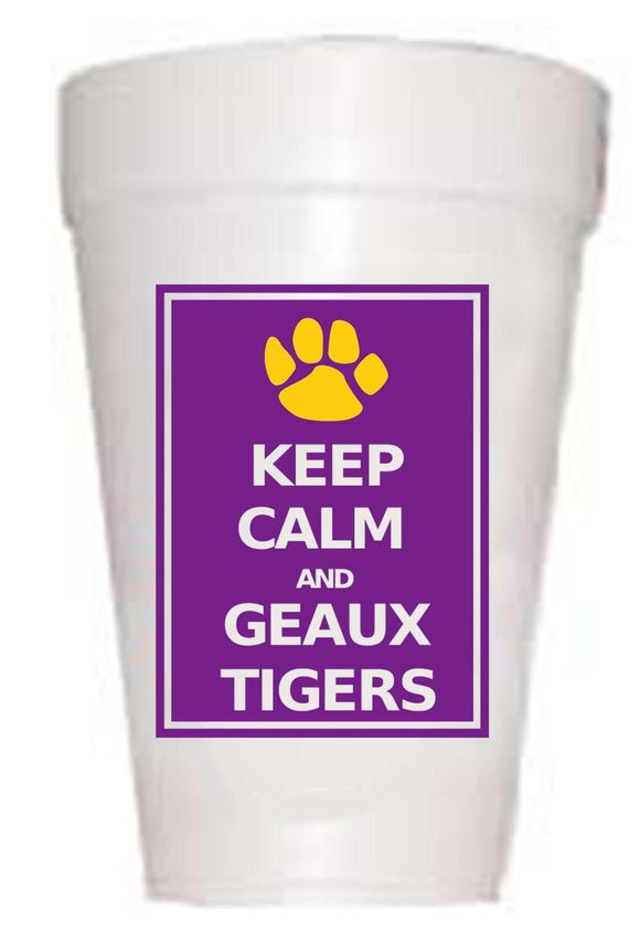 LSU Keep Calm Styrofoam Cups