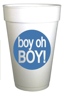 Boy Oh Boy! Baby Shower Cups - Preppy Mama