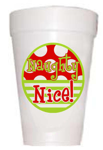'Naughty & Nice' Christmas Cups - Preppy Mama