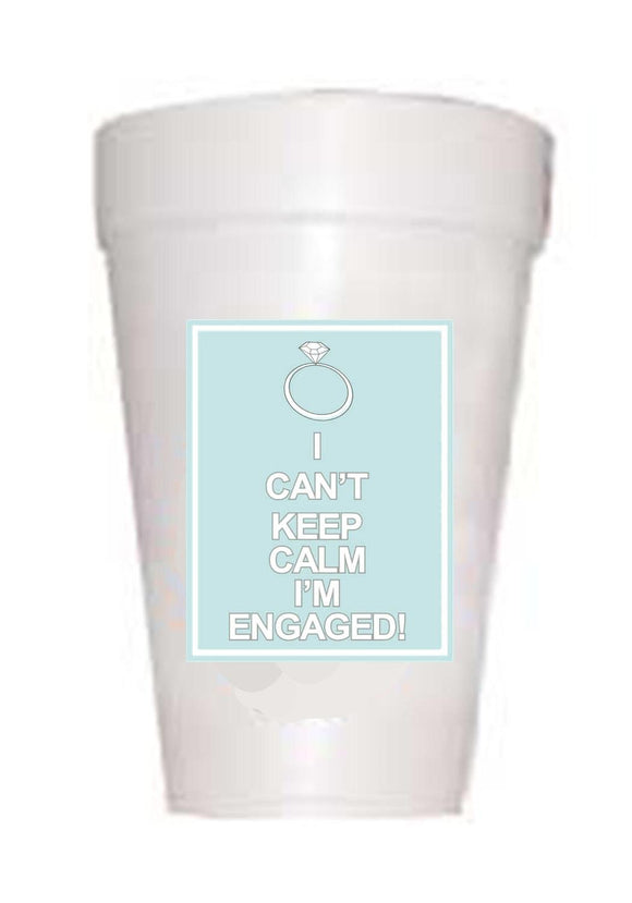 'Keep Engaged' Wedding Styrofoam Cups - Preppy Mama