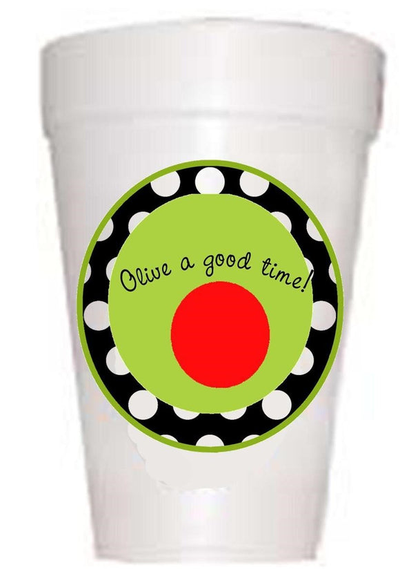 Olive a good time cups