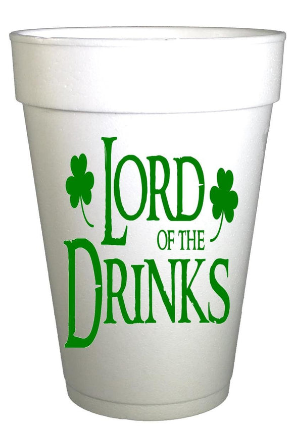 St Patricks Day Lord of the Drinks Styrofoam Cups