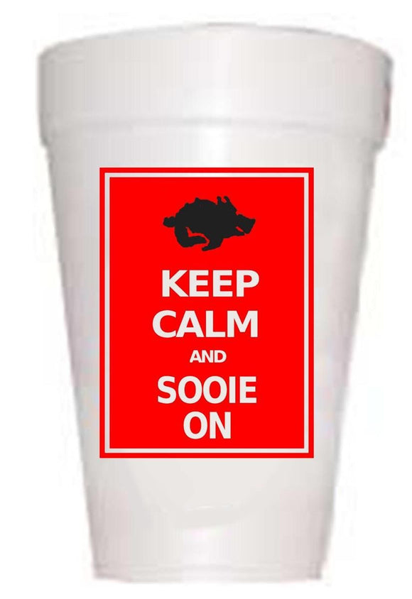 AR Keep Calm Styrofoam Cups - Preppy Mama
