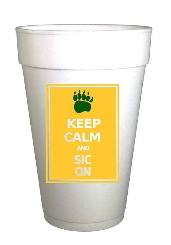 BAY Bears Keep Calm Styrofoam Cups - Preppy Mama