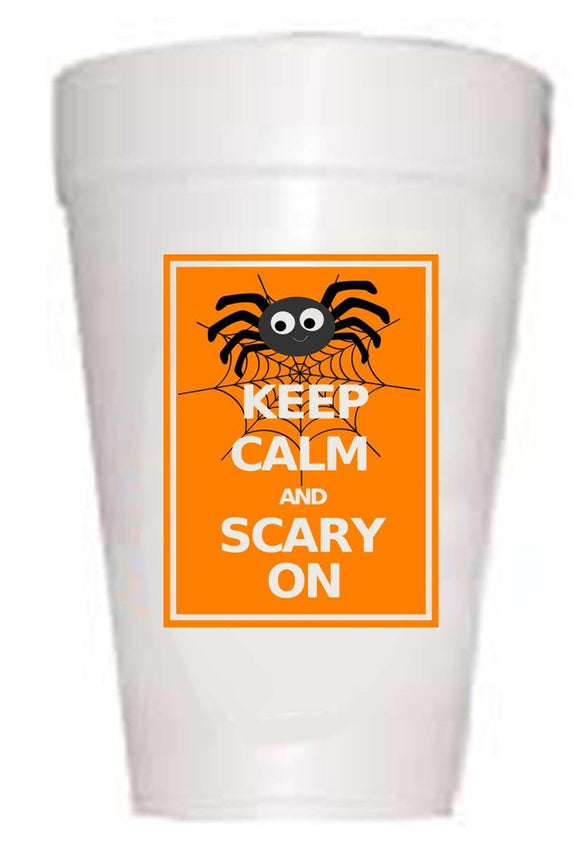 Keep Calm Styrofoam Cups