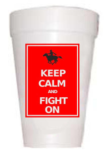 Texas Tech Keep Calm Styrofoam Cups