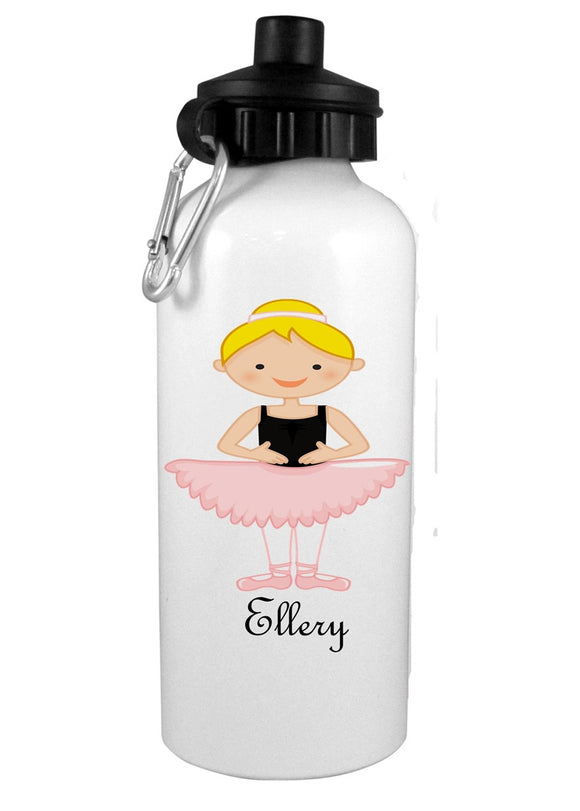 Blonde Hair Ballerina Personalized Water Bottle - Preppy Mama