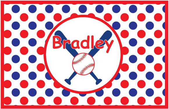 Boy Baseball Personalized Placemat - Preppy Mama