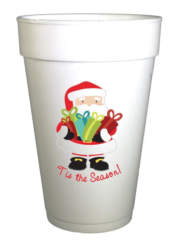 'Tis the Season Santa Gifts Christmas Cups - Preppy Mama