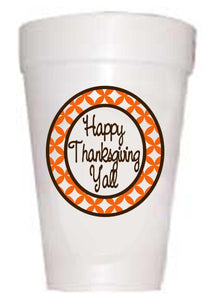 Happy Thanksgiving Y'All Cups-Thanksgiving Theme Cups-Preppy Mama