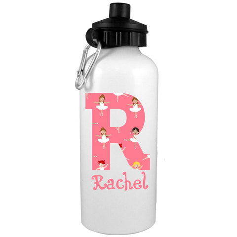 Alphabet Ballerina Personalized Water Bottle - Preppy Mama