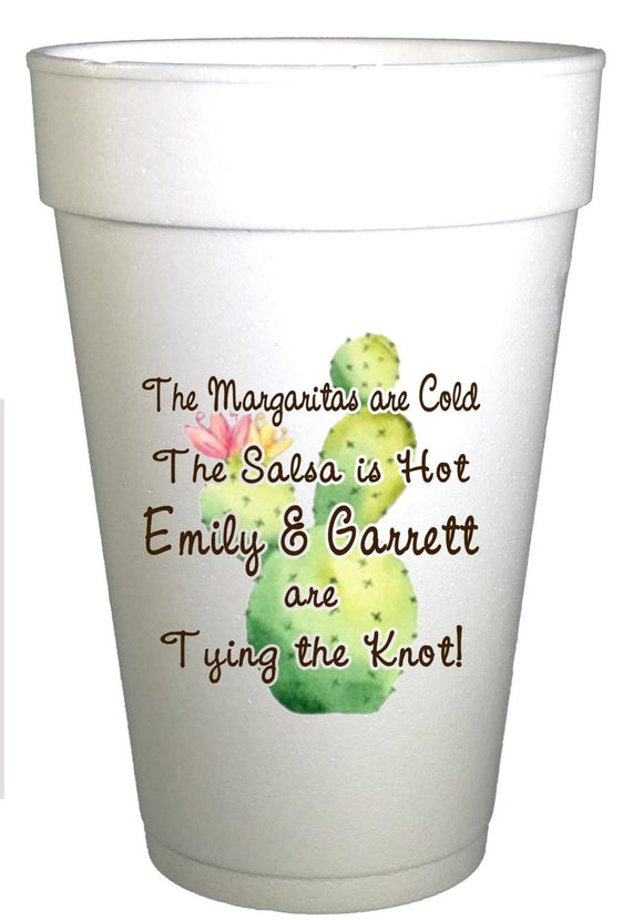 Fat Cactus Fiesta Party Personalized Engagement Party Cups-Fiesta Party Cups-Preppy Mama
