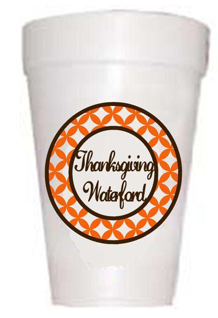 Thanksgiving Waterford Styrofoam Cups