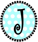 Blue Dot Initial Cups - Preppy Mama