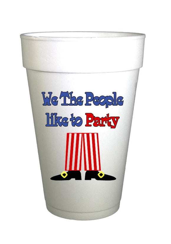 We The People 4th of July Holiday Styrofoam Cups