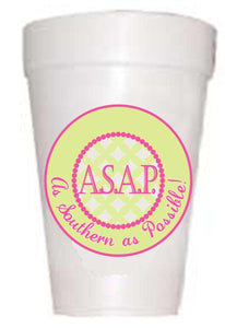 As Southern as Possible Cups - Preppy Mama