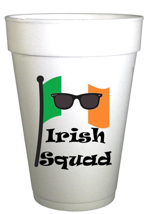 St Patricks Day Irish Squad Styrofoam Cups