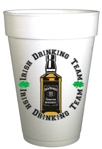 St Patricks Day Irish Drinking Team Styrofoam Cups