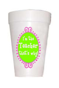 Teacher Why Cups