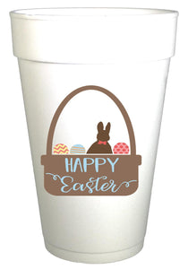 Easter Basket Styrofoam Cups - Preppy Mama