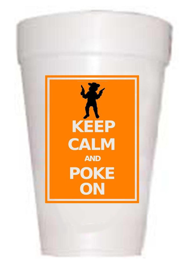 OK State Keep Calm Styrofoam Cups