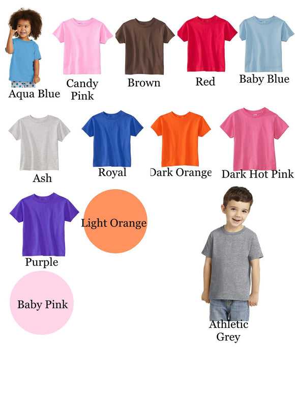Copy of Copy of Children's Short Sleeve T-Shirts-Lime, Spring Green, Brown, Gold, Lemon, Med Gold, Rust, Wine